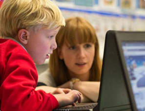 A boy at a Code Club